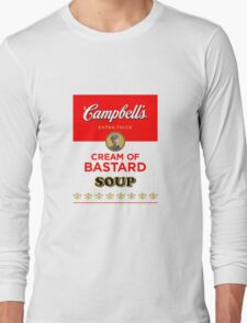 Campbell's Extra Thick Cream of Bastard Soup (white) Long Sleeve T-Shirt