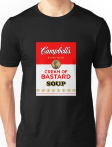 Campbell's Extra Thick Cream of Bastard Soup (black) Unisex T-Shirt