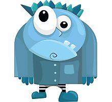 Grumpy Blue Man Photographic Print