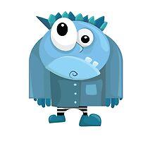 Grumpy Blue Man by chrissymcyoung