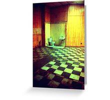 Close the Bathroom Door Greeting Card