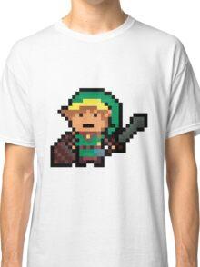 Link, Hyrule's Pixel Guardian Classic T-Shirt
