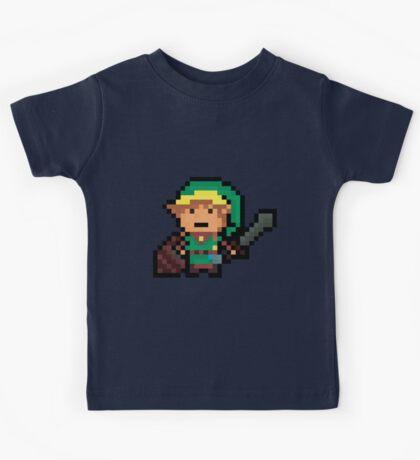 Link, Hyrule's Pixel Guardian Kids Tee