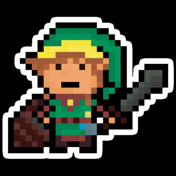 Link, Hyrule's Pixel Guardian by Pixel-League
