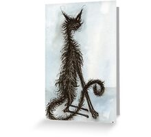 Black Scraggy Cat Greeting Card