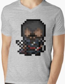 Ezio, The Pixel Assassin Mens V-Neck T-Shirt