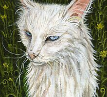 Stray Cat with Blue Eyes by Elle J Wilson