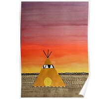 Tepee or Not Tepee original painting Poster