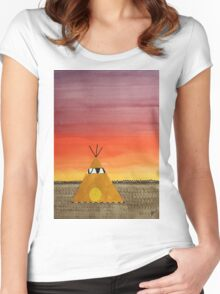 Tepee or Not Tepee original painting Women's Fitted Scoop T-Shirt