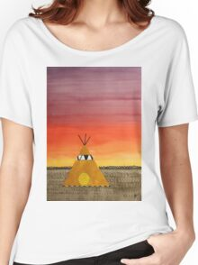 Tepee or Not Tepee original painting Women's Relaxed Fit T-Shirt