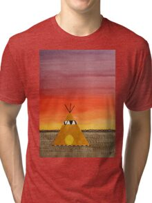 Tepee or Not Tepee original painting Tri-blend T-Shirt