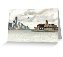A VIEW OF LOWER MANHATTAN Greeting Card
