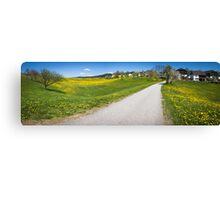Countryside Panorama Canvas Print