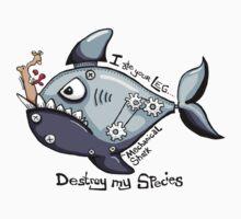 Shark eating leg Kids Tee