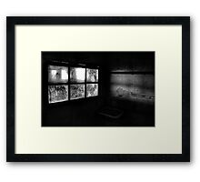 Dark side of the light Framed Print