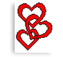 Pixel Hearts Canvas Print