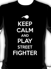 Keep Calm and Play Street Fighter T-Shirt