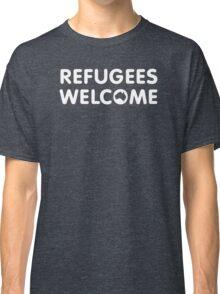 Refugees Welcome Australia (White) Classic T-Shirt