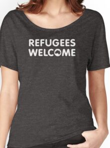Refugees Welcome Australia (White) Women's Relaxed Fit T-Shirt