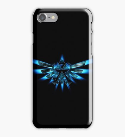 Triforce Of Courage - Blue iPod/Phone case. iPhone Case/Skin