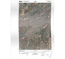 USGS Topo Map Washington State WA Texas Lake 20110401 TM Poster