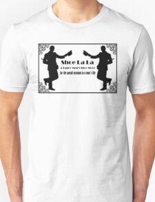 Shoe La La - Black on White/Color T-Shirt