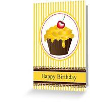 Banana and Chocolate Cream Cupcake Series of 6 No 4 Greeting Card