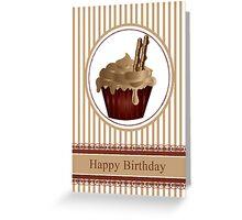 Coffee and Chocolate Cream Birthday Cupcake No5 Greeting Card