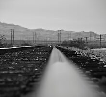 B&W Right side of the track by fireangelsphoto