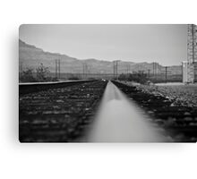 B&W Right side of the track Canvas Print
