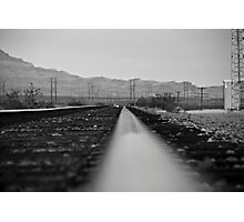 B&W Right side of the track Photographic Print
