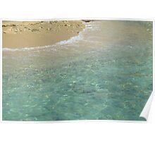 Clear ocean beach Poster