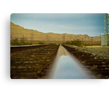 Right side of the track Canvas Print