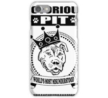 NOTORIOUS PIT BULL iPhone Case/Skin