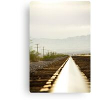 On the rail 2 Canvas Print