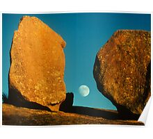 Moon from Enchanted Rock Poster