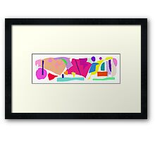 Magnifying Glass Small World Insects Framed Print