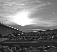 B&W into the sunset by fireangelsphoto