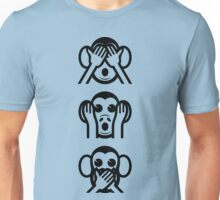 3 Wise Monkeys Emoji Unisex T-Shirt