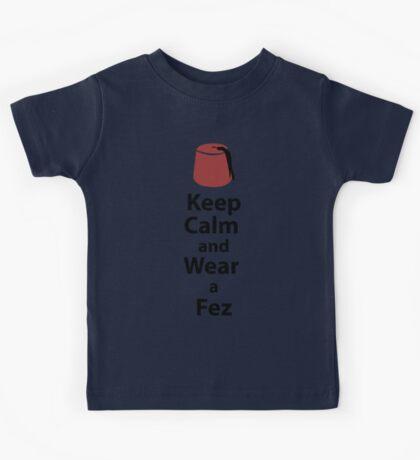 Keep Calm and Wear a Fez color Kids Tee
