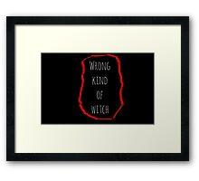 Wrong Witch Framed Print