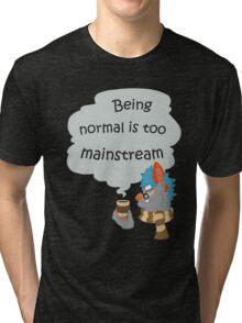 Hipster Bat Tri-blend T-Shirt