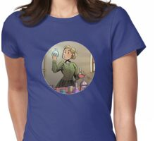 Curie Round Design 01 Womens Fitted T-Shirt