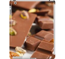 Assortment of milk chocolate bars with nuts and plain iPad Case/Skin