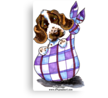 English Cocker Spaniel Sack Puppy Canvas Print