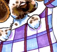 English Cocker Spaniel Sack Puppy Sticker