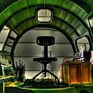 B-17 Cockpit Under Restoration by Michael  Herrfurth