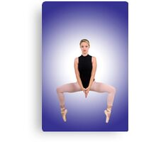 Female blond Ballet Dancer balances on her toes Canvas Print