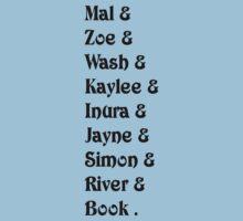 Mal& Zoe& Wash& Kaylee& Inura& Jayne& Simon& River& Book.   [black] Kids Clothes