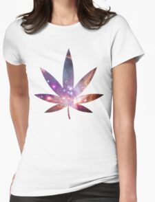Cosmic Leaf Womens Fitted T-Shirt